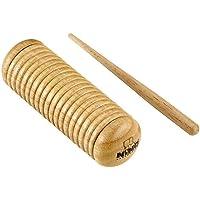 Nino Percussion Guiro de madera con relleno y rascador agitador – no fabricado en China – para música de aula, 2 años de garantía (NINO520)