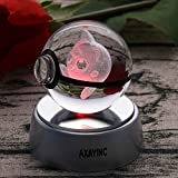AXAYINC 3D Crystal Ball LED Night Light Table Desk Sleep Light for Home Decoration and Holiday Gifts (Pding)