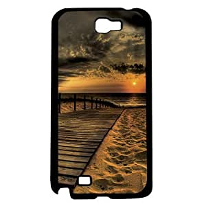 Beautiful High Contrast Beach Sunset on Boardwalk Hard Snap on Phone Case (Note 2 II)