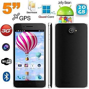 Smartphone Dual SIM 5 Pulgadas Quad Core Android Libre 20 GB Negro ...