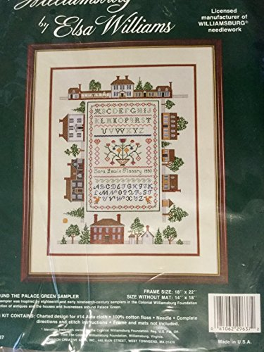 Williamsburg by Elsa Williams, Counted Cross Stitch Kit # 29637.
