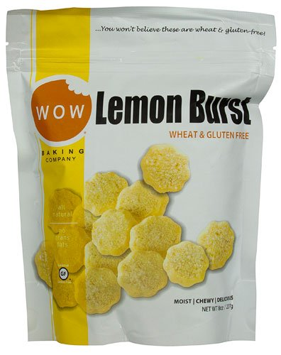 WOW Baking Company Cookies Gluten Free Lemon Burst -- 8 oz Each / Pack of 2 (Cookies Wow Lemon)
