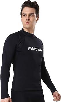 realon traje de surf de 2 mm superior chaqueta de buceo nadar camisa hombres