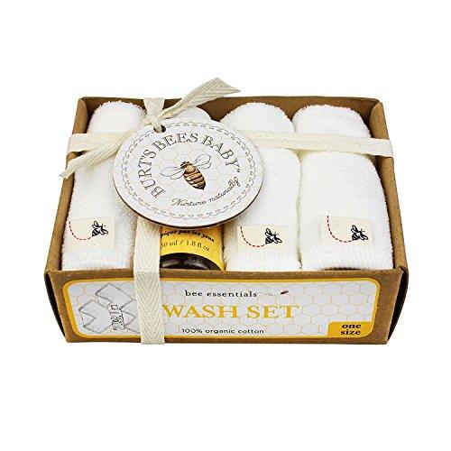 Burt's Bees Baby Organic Washcloth Gift Box, Cloud