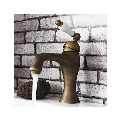 50%OFF W&P American Standard Centerset Single Handle One Hole in Antique Brass Bathroom Sink Faucet