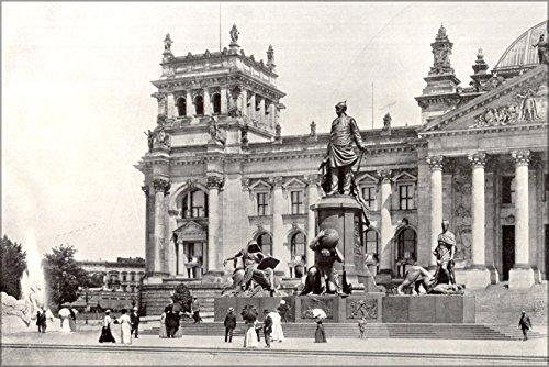 Poster Berlin, Memorial To Otto Von Bismarck In The Original Position In Front Of The Reichstag Around 1900