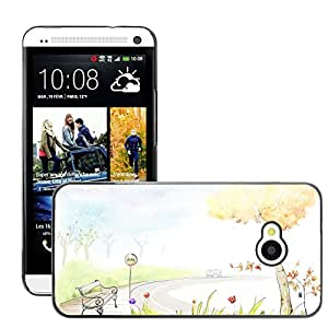 Hot Style Cell Phone PC Hard Case Cover // M00045321 3 artistic digital 2d art drawings // HTC One M7