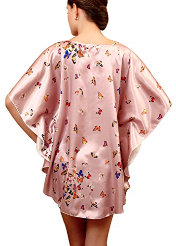 Aensso - Camisón - para mujer Lilac Butterfly