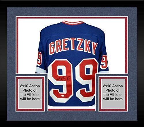 - Framed Wayne Gretzky New York Rangers Autographed Blue CCM Replica Jersey - Upper Deck - Fanatics Authentic Certified