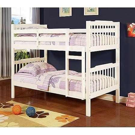 Elise Bunk Bed Soft White Amazon Co Uk Kitchen Home