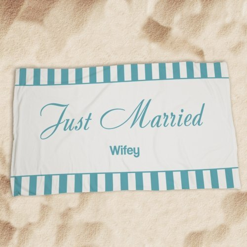 Just Married Beach Towels - 4