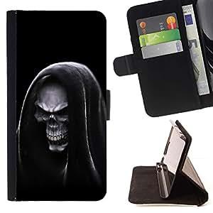 - Grim Reaper Hooded Death/ Personalizada del estilo del dise???¡¯???¡Ào de la PU Caso de encargo del cuero del tir???¡¯????n del s - Cao - For HTC One M9
