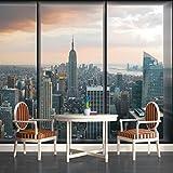 excellent city wall mural New York City Skyline Window View Wallpaper Mural