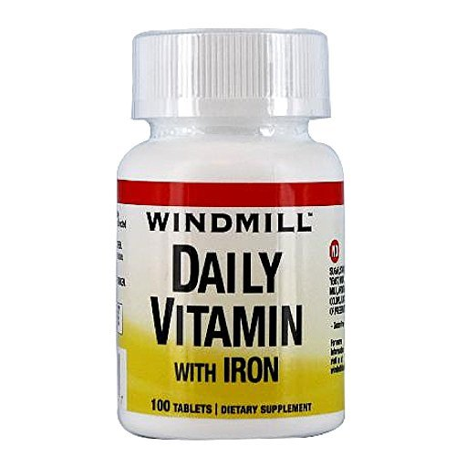 Windmill daily vitamin with iron and beta carotene tablets - 100 ea by Windmill