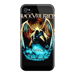 Shock-Absorbing Hard Phone Cover For Iphone 6 (iQy15158NlDF) Allow Personal Design Attractive Black Veil Brides Skin