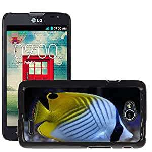 Hot Style Cell Phone PC Hard Case Cover // M00131015 Angel Fish Angelfish Colorful Pattern // LG Optimus L70 MS323