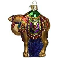 Adornos navideños del Viejo Mundo: adornos de cristal de camello de Magi para el árbol de navidad