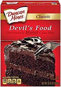Duncan Hines Classic Cake Mix, Devils Food, 15.25 Ounce