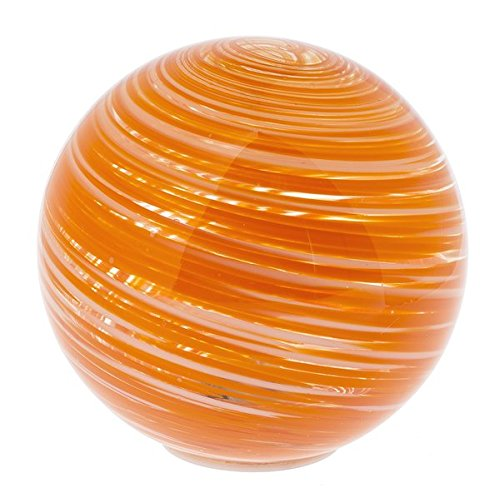 Ganz Illuminations Glass Light Up Orb - Orange