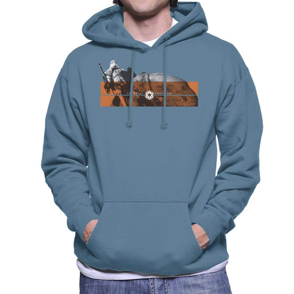 Star Wars Imperial Command Dewback Stromtroopers Mens Hooded Sweatshirt