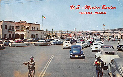 US Mexico Border Tijuana Mexico Postcard Tarjeta Postal at ...