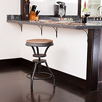 Exceptional Henry Industrial Design Adjustable Height Bar Stool