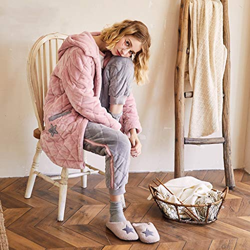 Trajes Pink Dibujos Invierno Traje Otoño E Domicilio Con Pijamas color Servicio A Capucha S Animados Larga Dulce Size De Pink Cómodos Manga wfIgx4