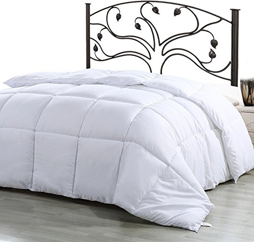 Ultra Soft Comforter Duvet Insert ( White, Twin ) - Hypoallergenic, Plush Siliconized Fiberfill, Box Stitched, Down Alternative Comforter, Protects Against Dust Mites and Allergens - by Utopia Bedding (Hypoallergenic Duvet Insert Queen compare prices)
