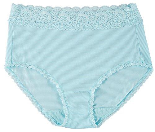 Vanity Fair Women's Flattering Lace Brief Panty 13281, something Blue, X-Large/8