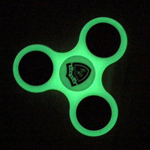 Nicpay EDC Fidget Hand Spinner Toy Stress Reducer – Ultra Fast Bearings Fidget Toys for Adults and Kids (Glow In The Dark)