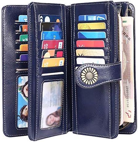 große XXL echt Leder Geldbörse Damen Portemonnaie Geldbeutel 21 Kartenfächer