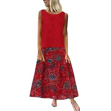 ZODOF vestidos mujer Sin mangas sexy Vestidos largos tallas ...