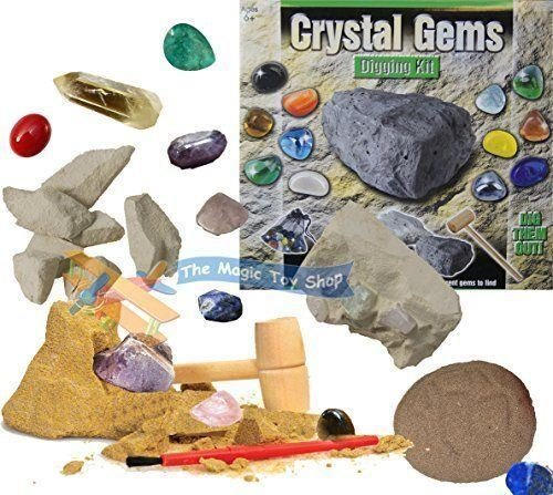 New Crystal Gems Digging Mining TREASURE Excavation Kit Dig Out Your Own Rock G