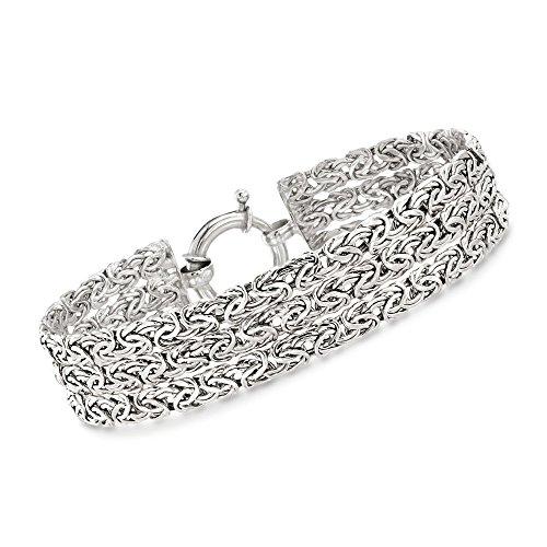 Ross-Simons Sterling Silver Three-Row Byzantine Bracelet