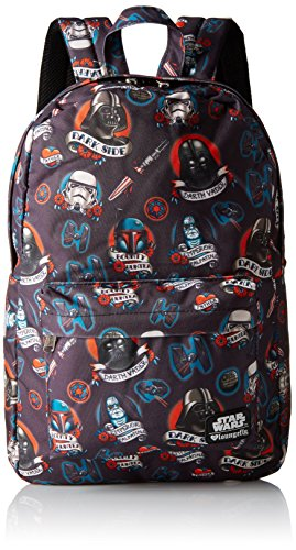 Loungefly Star Wars Dark Side Tattoo Back pack, Black, One Size