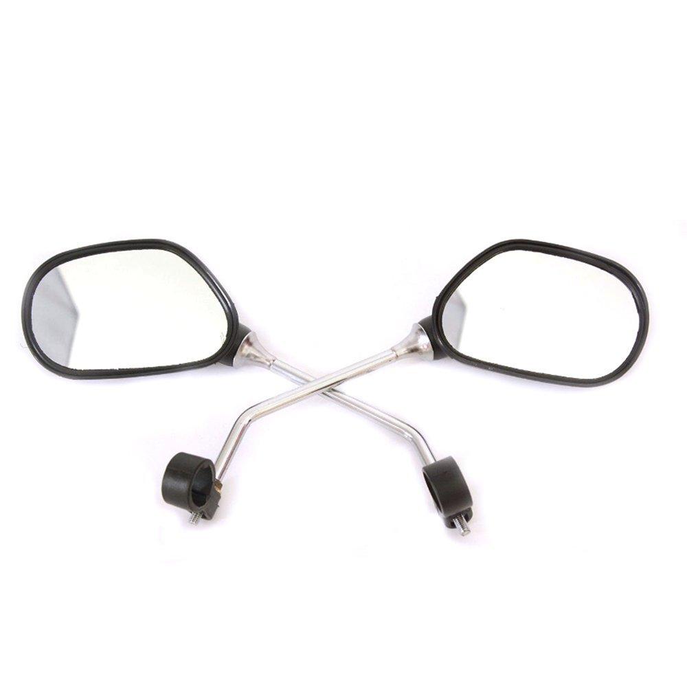 kimo 2 Pcs 360° Rotate Adjustable Universal Handlebar Rear View Mirror For Bike Bicycle Cycling Black by kimo (Image #2)