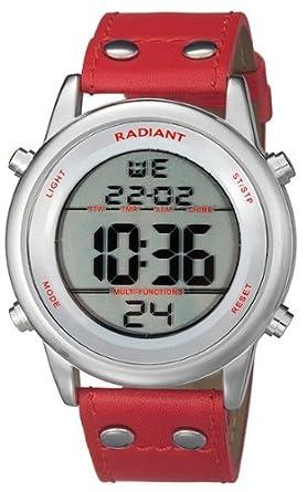 Radiant new code reloj para Hombre Digital de Cuarzo con brazalete de Piel de vaca RA116602: Amazon.es: Relojes