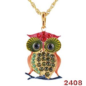 Party Owl Necklace Pendant Alloy +Free Bag