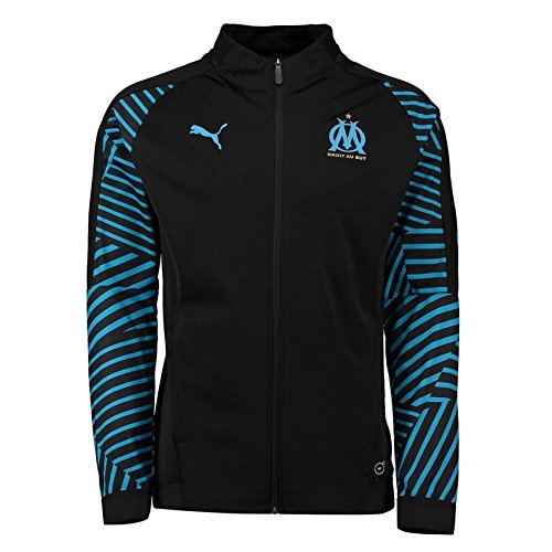 PUMA 2018-2019 Olympique Marseille Stadium Jacket (Black)