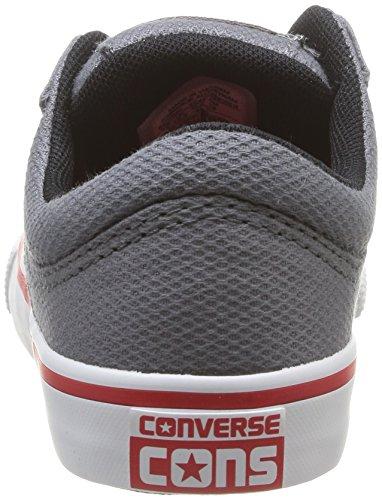 Converse Aero S Ox - Zapatillas de Deporte de canvas Infantil gris - Gris (Gris/Rouge)