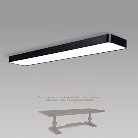 LED Long lamp Modern Office Ceiling lamp Office Rectangular ...