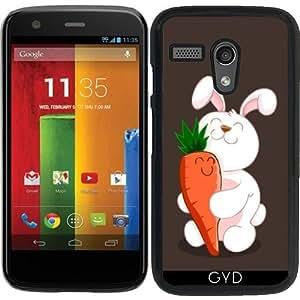 Funda para Motorola Moto G (Generation 1) - Luv Conejito by AnishaCreations
