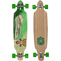 The Sector 9 Green Wave Lookout II longboard is a classic surf inspired cruising and carving board. It has a great blend of flex and rigidity making it nice for throwing out slides and speed checks with ease. The Lookout is a pretty big board...