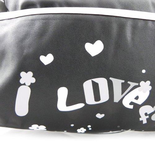 Francinel [H1751] - Sac 'Love Fashion' noir blanc