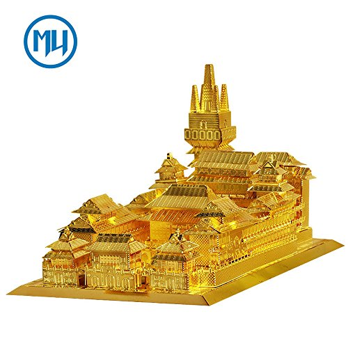 UPC 712217592338, MU 3D Metal Puzzle Jin An Temple Building Model Kit YM-N019 DIY 3D Laser Cut Assemble Jigsaw Toys For Audit