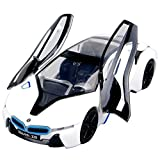 NuoYa001 Display 1:32 BMW i8 White Alloy Diecast car model Collection with light&sound by NuoYa