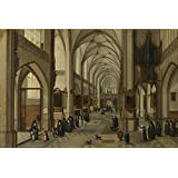 The polyster Canvas of oil painting 'Hendrick van Steenwyck the Younger and Jan Brueghel the Elder The Interior of a Gothic Church 2 ' ,size: 18 x 27 inch / 46 x 69 cm ,this Vivid Art Decorative Prints on Canvas is fit for Kids Room decoration and Home gallery art and Gifts