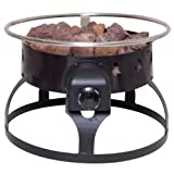 Camp Chef Redwood Portable Propane Fire Pit with 4 Roasting Sticks, Black, Outdoor Stuffs