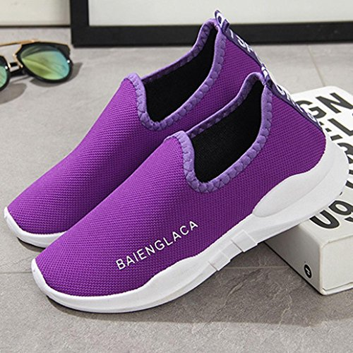 Toe Running Shoes Gym Ventilation ❤️ Ladies Shoes Running Purple Round Xinantime Sale Clearance Casual Shoes Mesh Women Shoes Solid 7OvpF7x