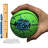 """Wave Runner Mega Sports Miniature Basketball 3.5"""" Waterproof Bouncing Ball for All Ages (Green)"""